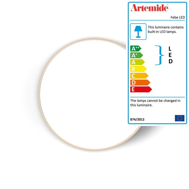 Artemide - Febe LED wall and ceiling light, Ø 61 cm, white