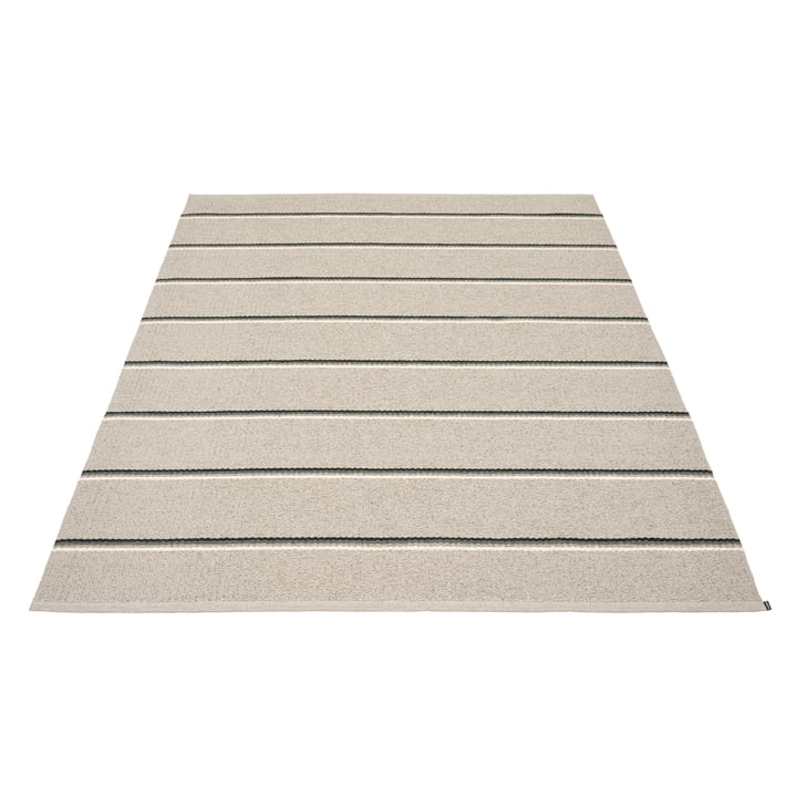 Olle Carpet, 180 x 260 cm by Pappelina in grey / linen