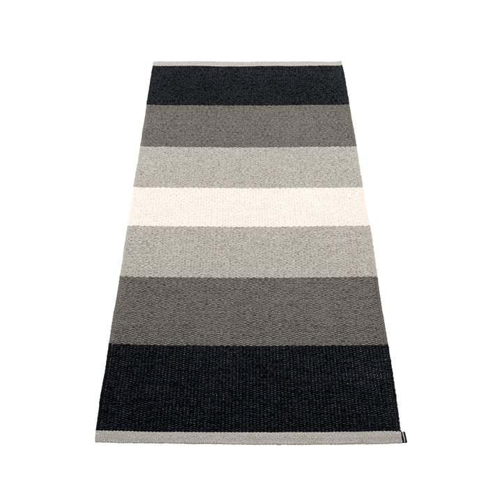Kim Carpet, 70 x 160 cm from Pappelina in black