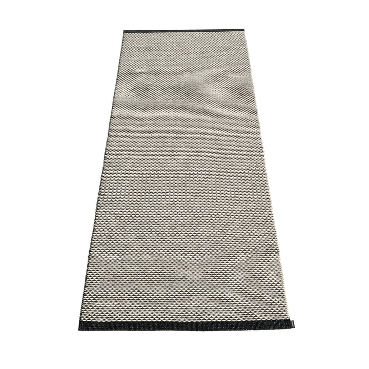 Effi carpet, 70 x 200 cm by Pappelina in black