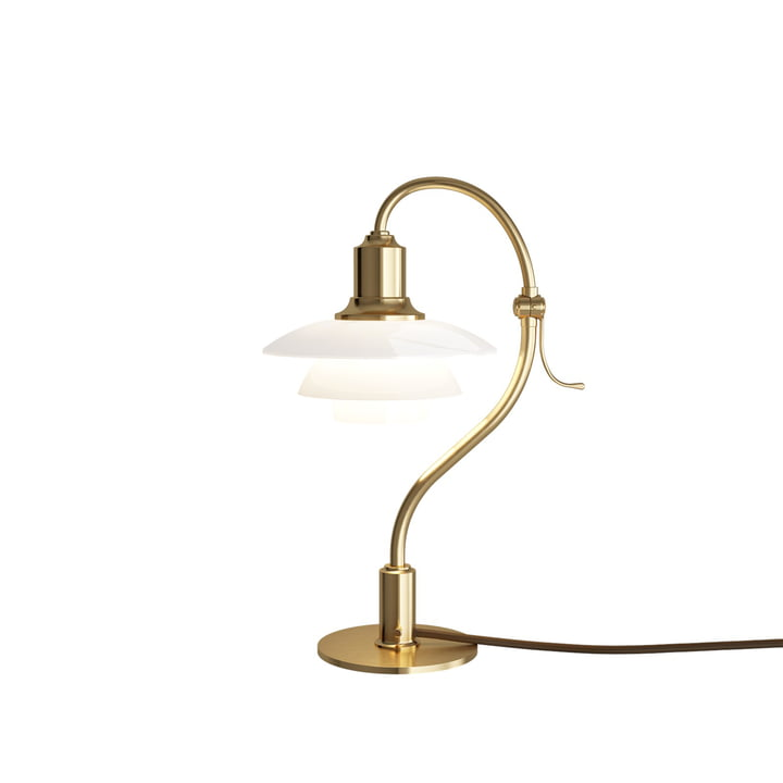 PH 2/2 The Question Mark table lamp by Louis Poulsen in brass / opal glass glossy