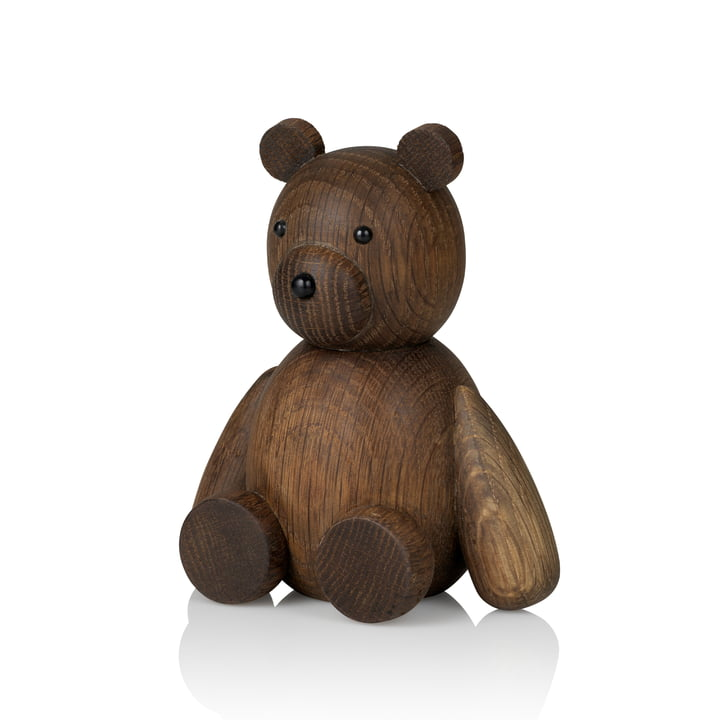 Teddy Wooden figure H 13.5 cm from Lucie Kaas in smoked oak