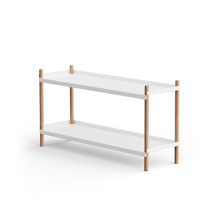 BOLT Shelf 53 x 100 cm 2 shelves from NINE in oak / white