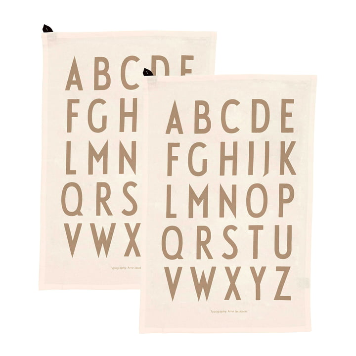 Classic Tea towel (set of 2) from Design Letters in off-white