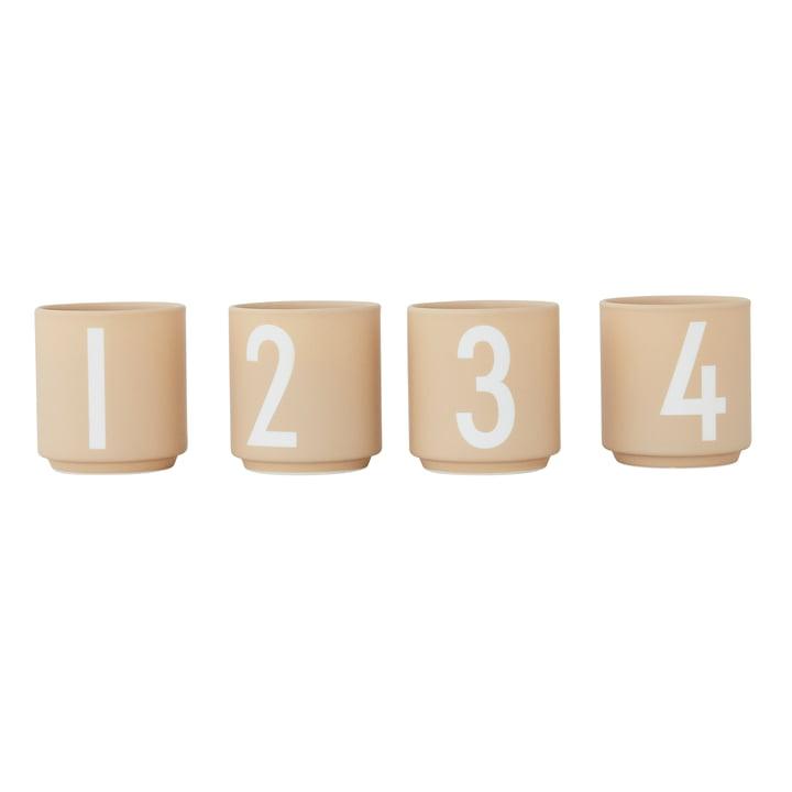 Porcelain mini mug (set of 4) from Design Letters in beige