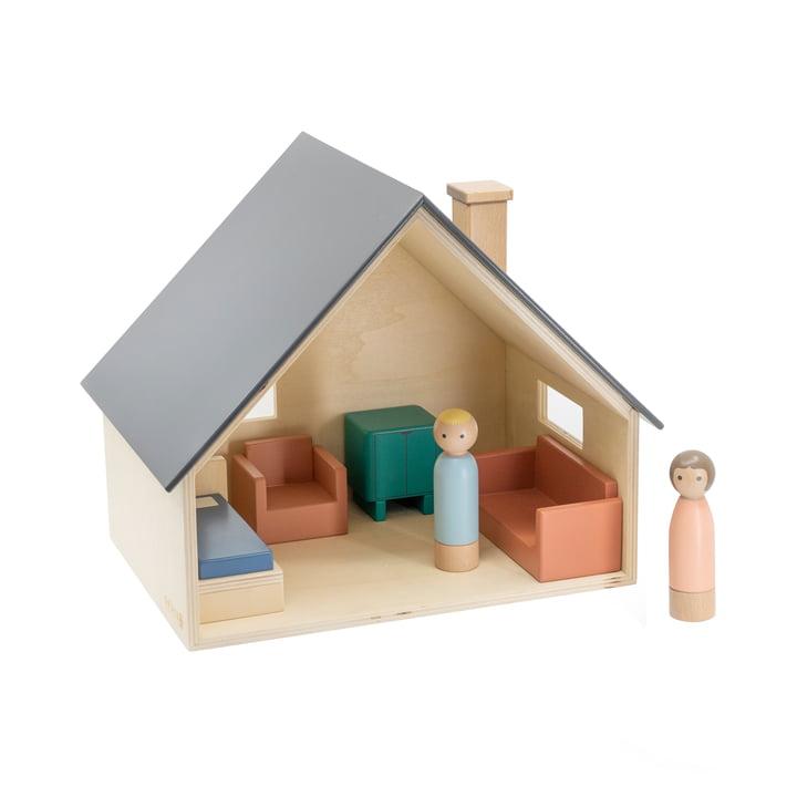 Dollhouse with furniture & Dolls from Sebra