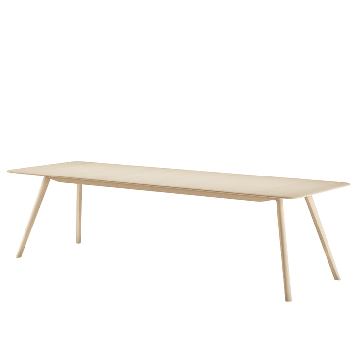 Meyer Extending table, 180 - 225 cm, ash waxed with white pigment from Objekte unserer Tage