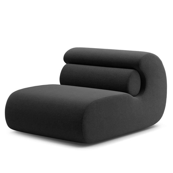 Ola Lounge Chair, anthracite (Main Line Flax MLF28) from Objekte unserer Tage