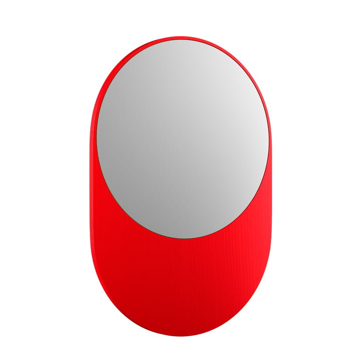 Koch Mirror, 55 x 80 cm, bright red from Objekte unserer Tage