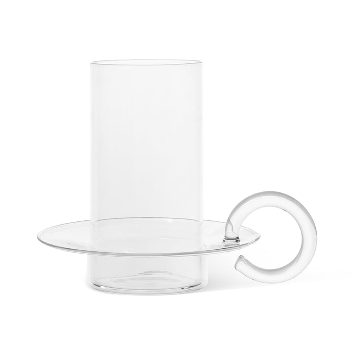 Luce Candle holder glass by ferm Living in the clear version