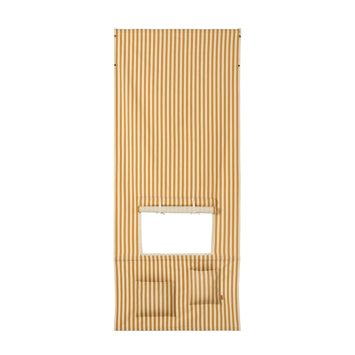 Kids Kiosk and puppet theatre by ferm Living in the design mustard / off-white