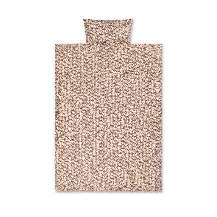 Strawberry kids bedding by ferm Living in color pink