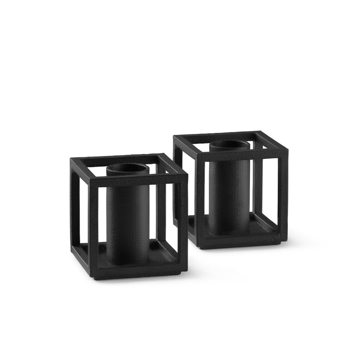 Kubus Micro candleholder from by Lassen in color black