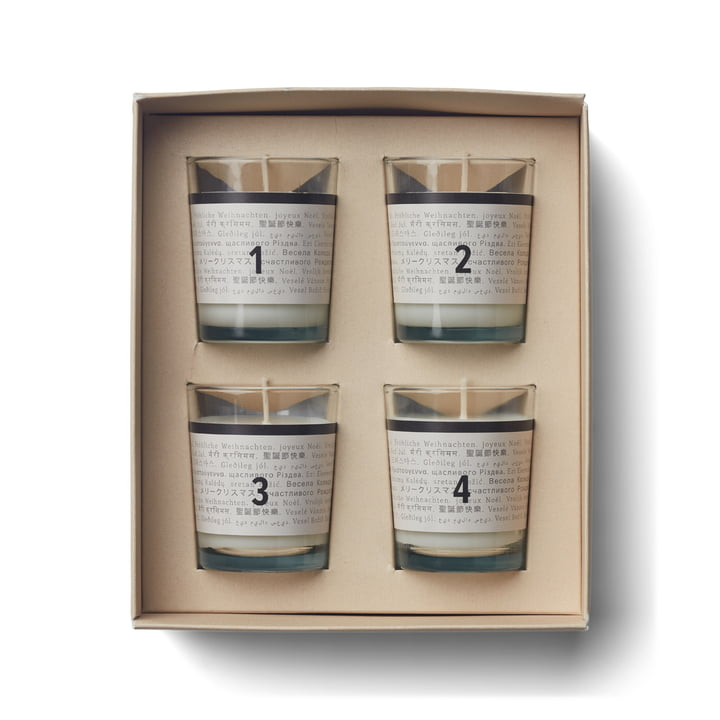 Advent Scented Candles, advent calendar (Set of 4) by Humdakin