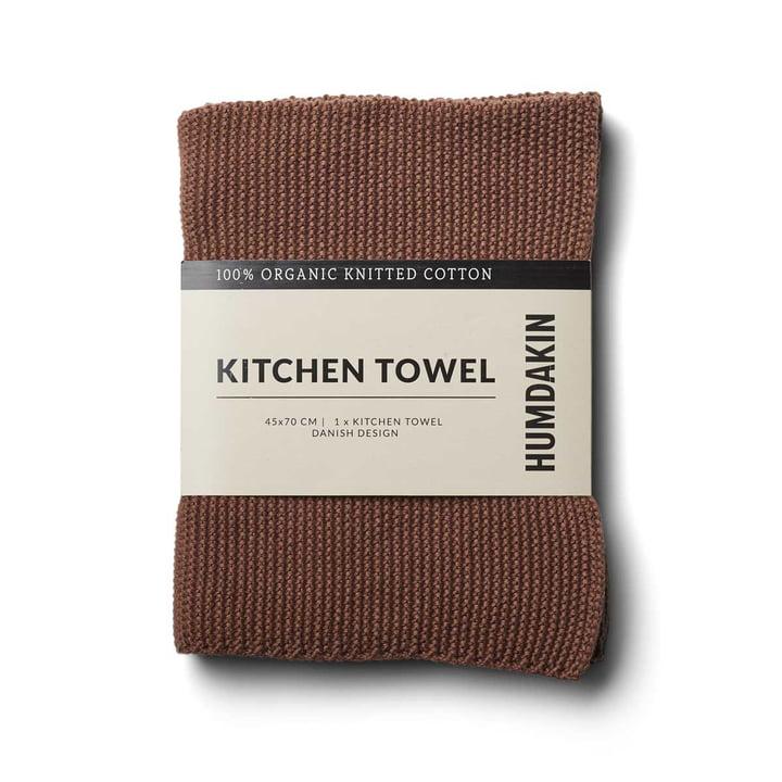 Knitted kitchen towel, 45 x 70 cm from Humdakin in acorn