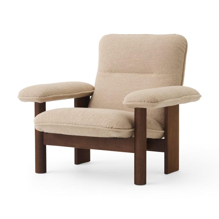 Brasilia Lounge Chair, Oak stained / Bouclé beige by MENU