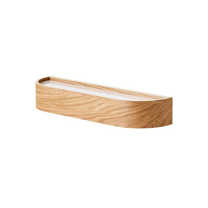 Epoch Wall shelf, L 50 cm, natural oak / fog by MENU