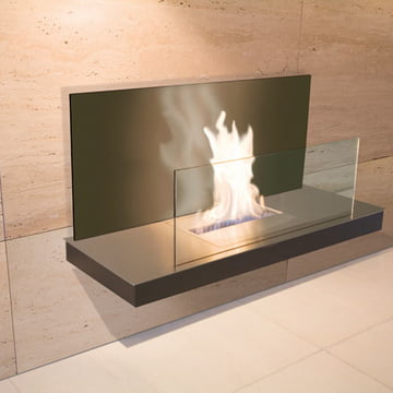 Wallflame II - Stainless steel/glass, black