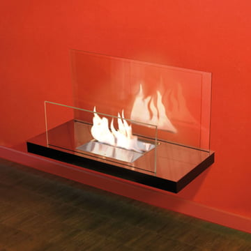 Wallflame II - Stainless steel, high gloss/glass, transparent