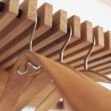 The Cutter wardrobe with Pilot coat hangers