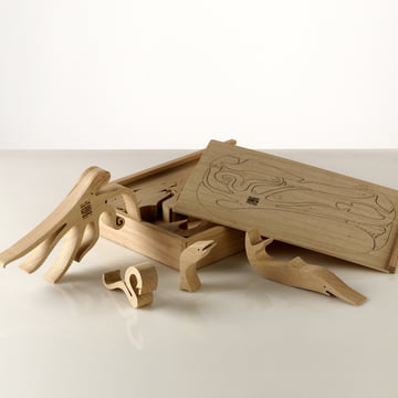 "Wooden Puzzle ""Pesci Animali"" by Enzo Mari for Danese Milano"