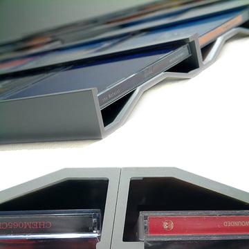 Lowkon - Sigmarail Aluminium CD shelving system (SR7), detail image