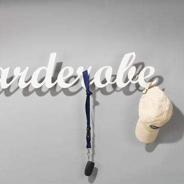 """Klein & More - """"Garderobe"""" Wardrobe in white"""