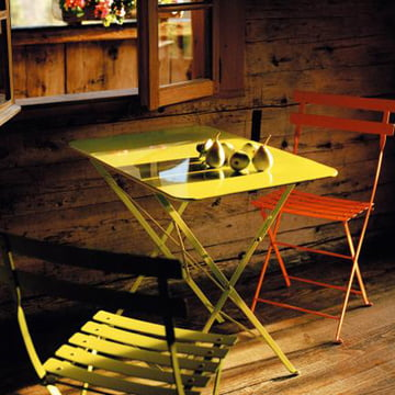 Bistro Folding Chair and Folding Table Classique by Fermob