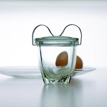Jenaer Glas - Wagenfeld Egg Coddler No. 1 with egg