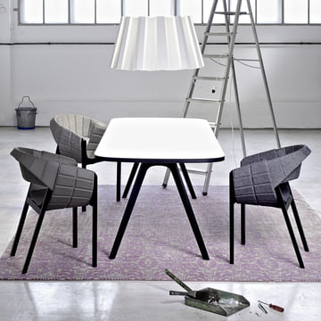 Wogg 43 table with Wogg 42 armchair