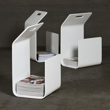 Artek Kanto Magazine and firewood rack, white
