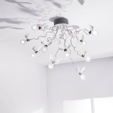 Ingo Maurer - Birdie's Nest Ceiling Lamp