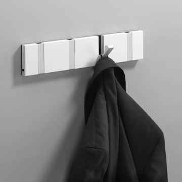 Loca - Knax 4 cloak rail - white, aluminium