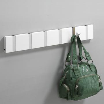 Loca - Knax 6 cloak rail - white, aluminium
