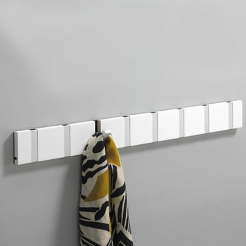 LoCa - Knax coat rack 8, white aluminium