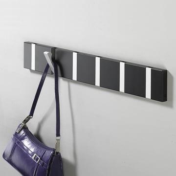 Loca - Knax 6 coat rack, black aluminium