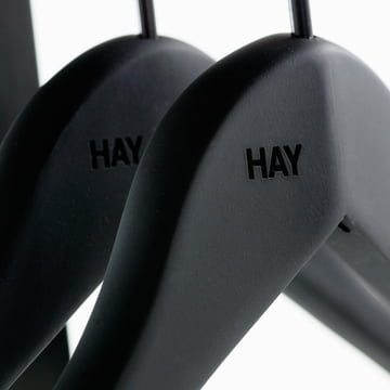 The Soft Coat Slim coat hanger by Hay with rubber coating
