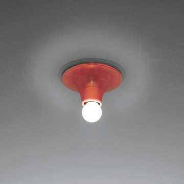Artemide Teti wall and ceiling lamp, red