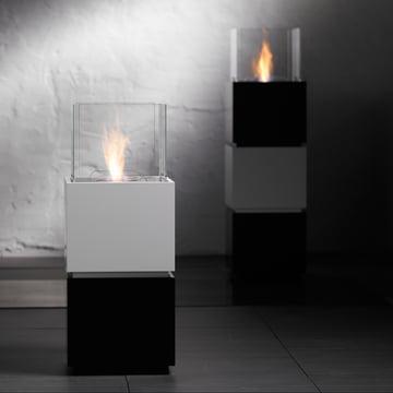 Safretti - Cube W1/B1 Fireplace - Black/White