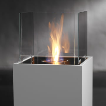 Safretti - Cube Fireplace W1, white