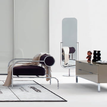 Simple and Harmonic: Cappellini Mirror Floor Mirror
