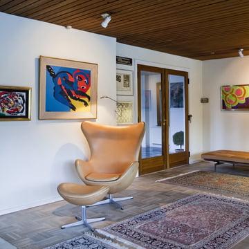 Fritz Hansen - Egg Armchair + Foot Stool