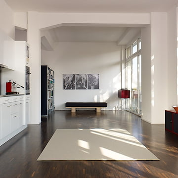Ruckstuhl - Carpet Feltro, grey white 40180 - ambience