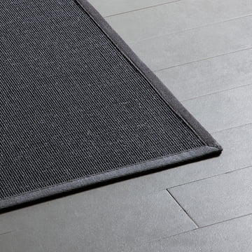 Ruckstuhl - Carpet Jaipur, Sisal anthracite (60196) - edge