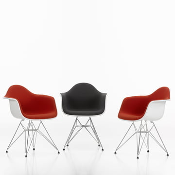 Eames Plastic Armchair DAR - Fully Upholstered