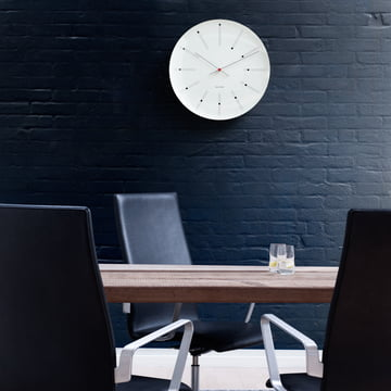 Rosendahl - AJ Bankers Wall Clock - ambience, black wall