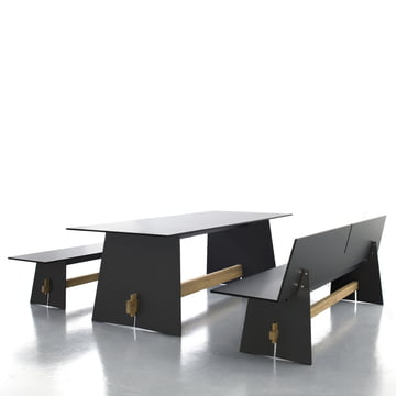 Conmoto - Tension table anthracite/black/teak