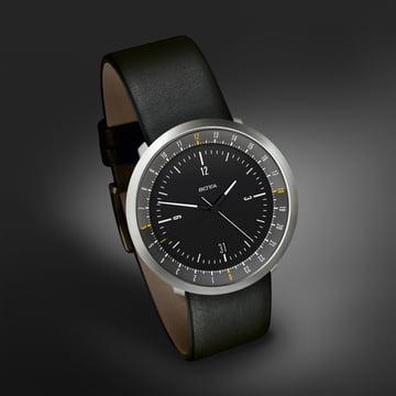 Botta Design - Mondo Watch, black / leather strap