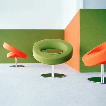 Softline - Hello swivel chair - group, orange, green