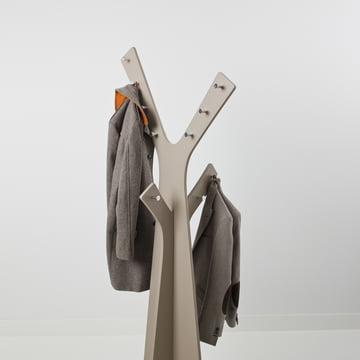 Cascando - Tree Stand Wardrobe, grey - with jackets